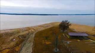 Winter Pool Draw Down at Enid Lake - DJI Phantom 2 Vision Plus