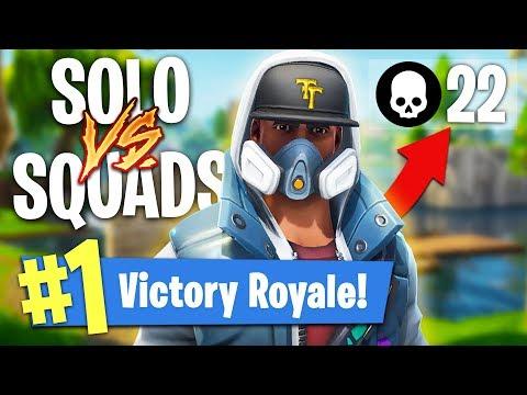 CRAZY 22 KILL SOLO vs SQUADS GAME!! (Fortnite Battle Royale)