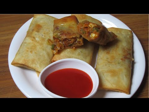 Veg Spring Rolls - Vegetables Spring Rolls with Homemade Sheets - Easy & Quick Snack Recipe
