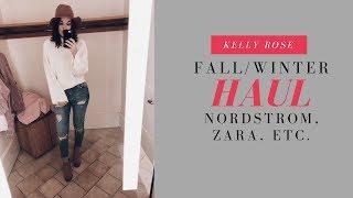 RANDOM FALL/WINTER CLOTHING HAUL + TRY ON (Nordstrom, Zara, Topshop, Anthro, etc.)
