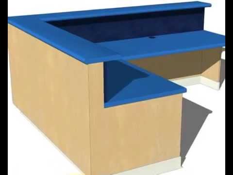 Build A Reception Desk - YouTube