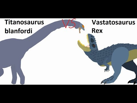 BRS4 Vastatosaurus Vs Titanosaurus (Read Descriptions, Please)