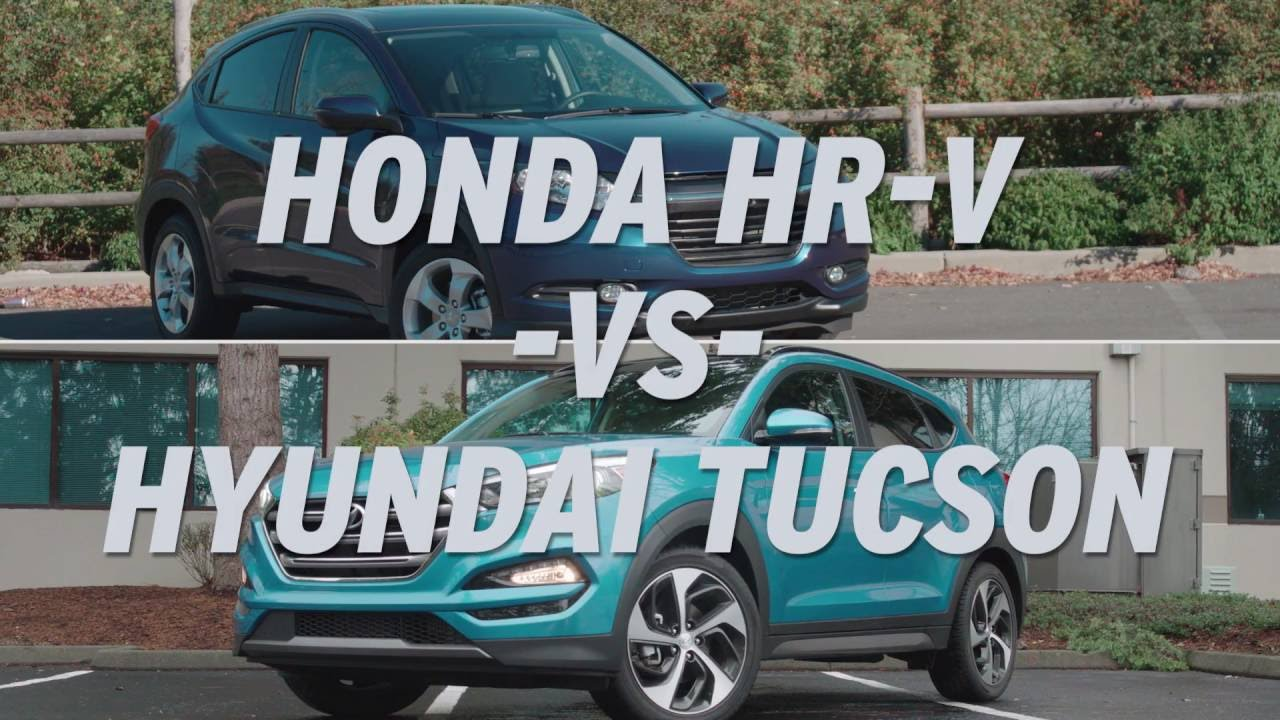 Honda Hr V Vs Hyundai Tucson Autonation Youtube