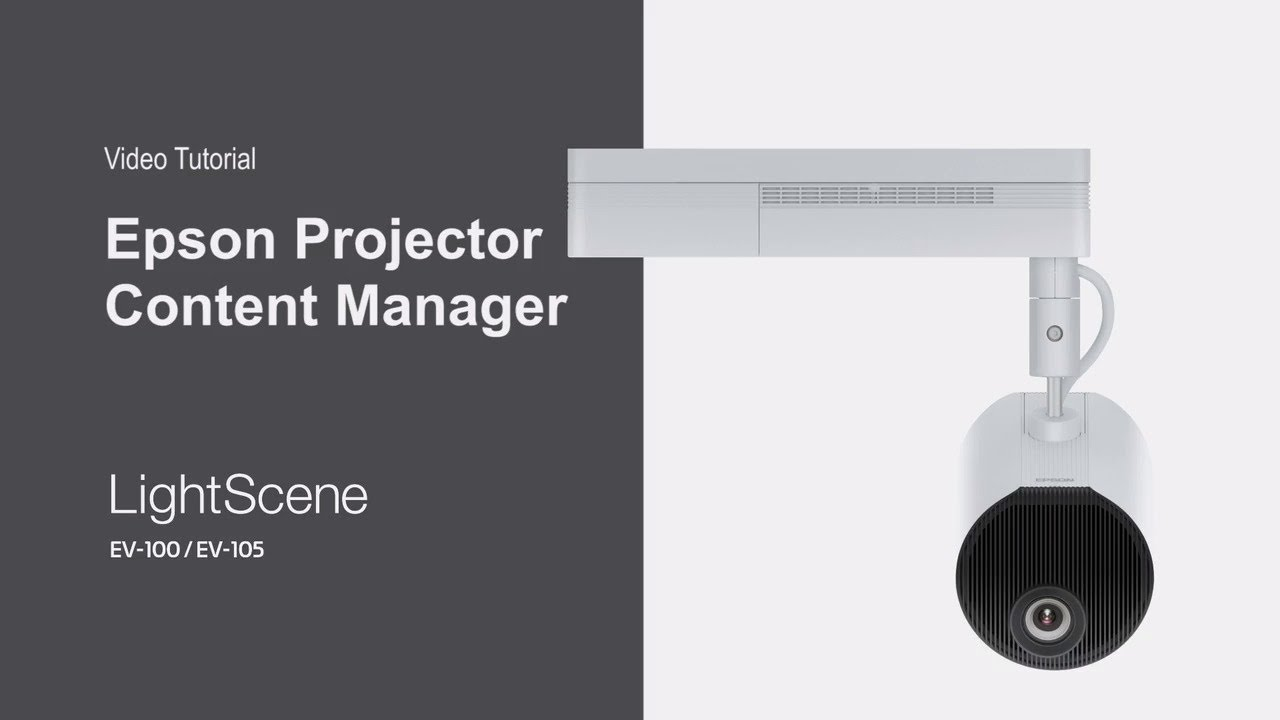 Epson LightScene Projector | Introduction to the Content Management Software
