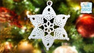 Lavoretti Di Natale Con Uncinetto.3 Tutorial Per Creare La Stella All Uncinetto Pane Amore E Creativita