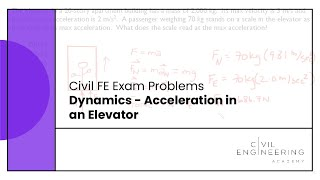 Civil FE Exam - Dynamics - Acceleration in an Elevator