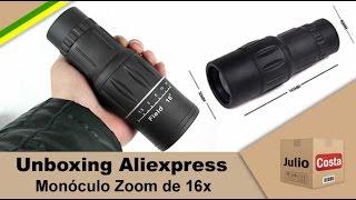 Unboxing Aliexpress Monoculo 16x - Recorde de 363 DIAS!!!