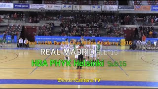 Gambar cover FINAL U16M Torneo Chus Mateo Academy: REAL MADRID-Sub15 VS. HBA PHYK Helsinki (BasketCantera.TV)