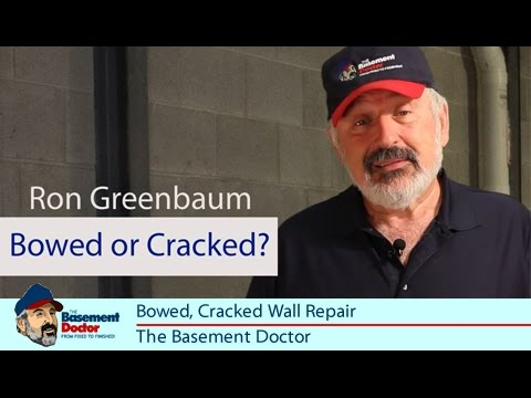 Bowed Cracked Wall Repair The Force Tension IBeam Basement - Basement doctor