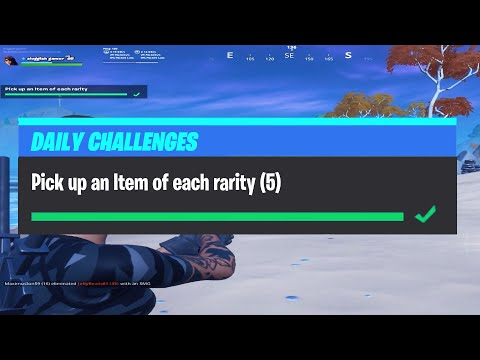 Pick Up An Item Of Each Rarity   Daily Challenges Fortnite Chapter 2 Season 2