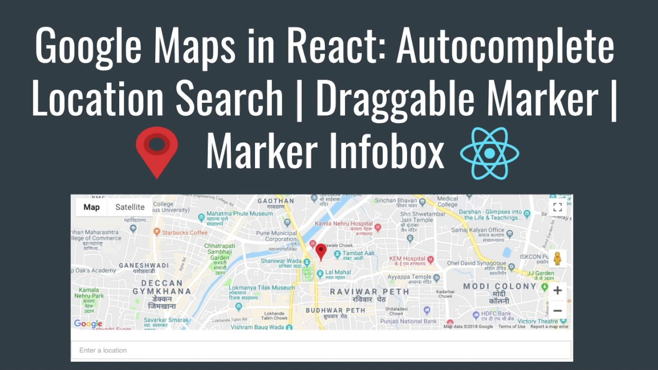 Google Maps in React: Autocomplete Location Search