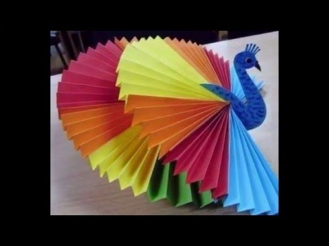 Paper birds create birds with papers paper designs for Fomic sheet decoration youtube