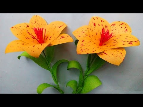 DIY Yellow Paper Flowers - Easy paper flowers - Paper flower making step by step