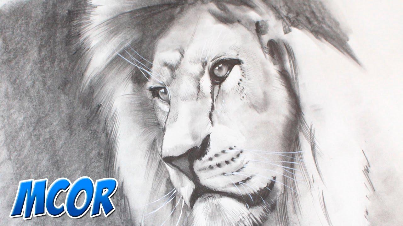 Excepcional Dibujo Realista De León Foto - Dibujos Para Colorear En ...