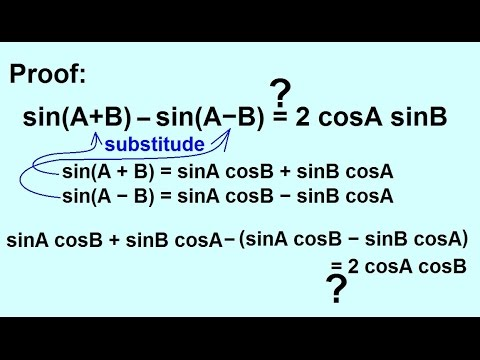 PreCalculus - Trigonometry: Trig Identities (19 of 57) Proof Using ...