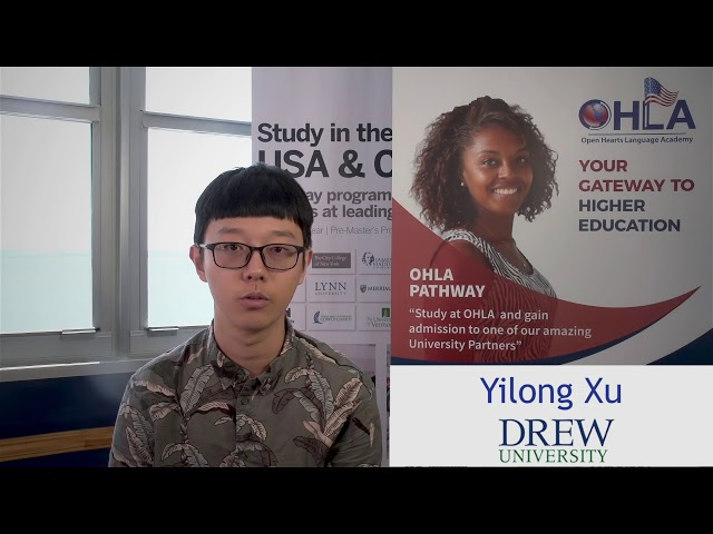 Xu Yilong goes from OHLA to Drew University