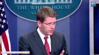 [FLASHBACK] In April 2011 Paid Liar Jay Carney defends Obama using signing statements