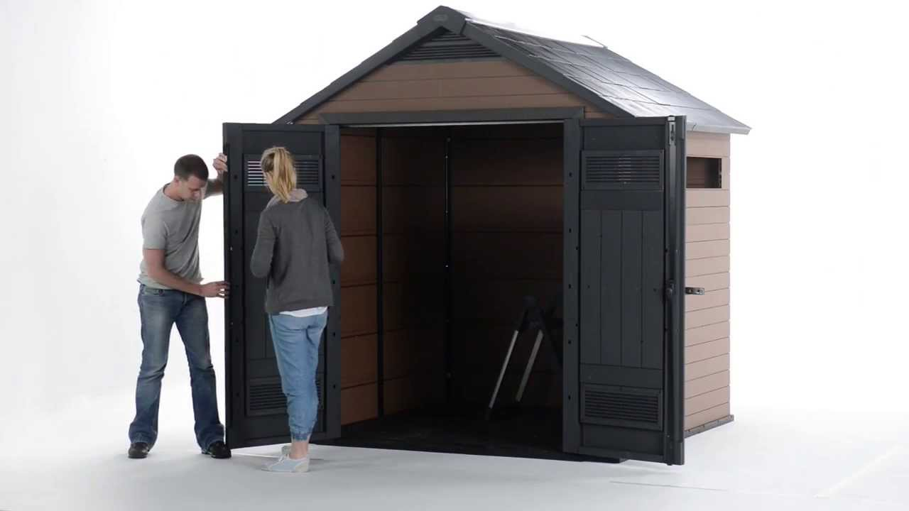 Garden Sheds 9 X 5 how to assemble keter fusion shed - youtube