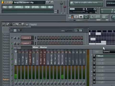Fl Studio: Lil Wayne ft. Eminem- Drop The World remake