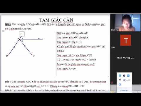 Học trực tuyến-Zoom-Tam giác cân [p3]
