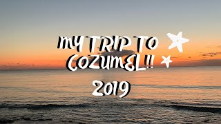 My Trip to Cozumel // WE ALMOST GOT HIT BY A COCONUT!!