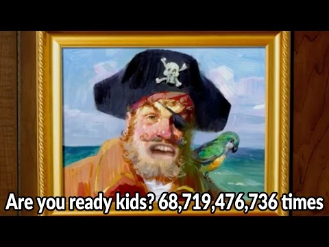 Are you ready kids? 68,719,476,736 times