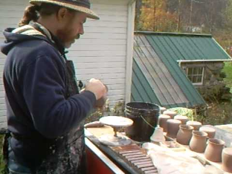 How To Apply Pulled Handles To Mugs ~ Www.simonleachpottery.com