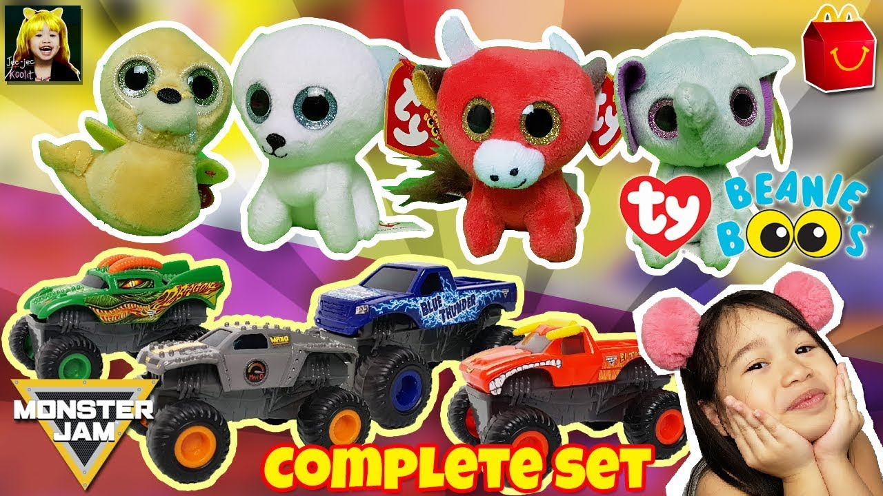 NEW 2018 Teenie Beanie Boos + Monster Jam McDonald s Happy Meal Toys  Unboxing f6d27ce6c6f9