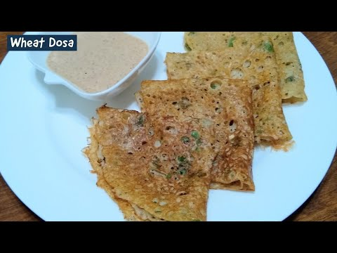 Instant Wheat Flour Dosa By Indian Yumm  | Quick And Healthy Breakfast Recipe | Dosa Recipe