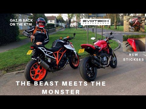 MY 2018 DUCATI MONSTER 1200S MEETS MY BRO'S 2017 KTM SUPER DUKE R