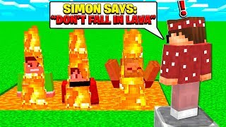 BEST FRIENDS FAIL AT PLAYING MINECRAFT SIMON SAYS!