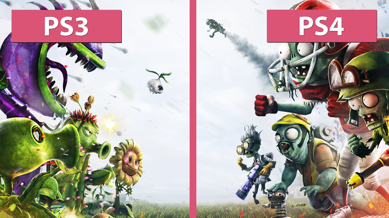 Plants Vs Zombies Garden Warfare Ps3 Vs Ps4 Graphics Comparison Fullhd Youtube