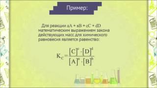 ch0502 Закон действующих масс для химического равновесия