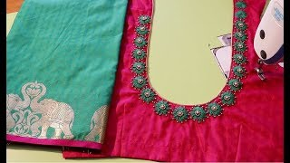Best New Hand Embroidery Designs For Sari Blouse 2019
