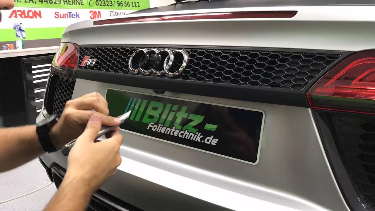 Audi Embleme In Shaddow Line R8 Zierleisten Folieren Youtube