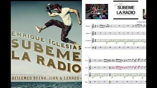 Súbeme la radio. Completa. Enrique Iglesias, Descemer Bueno y  Zion & Lennox. Partitura flauta.