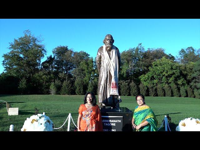 Unveiling Ravindranath Tagore - Nobel laureate of India - Statue at Ananda Mandir - New Jersey