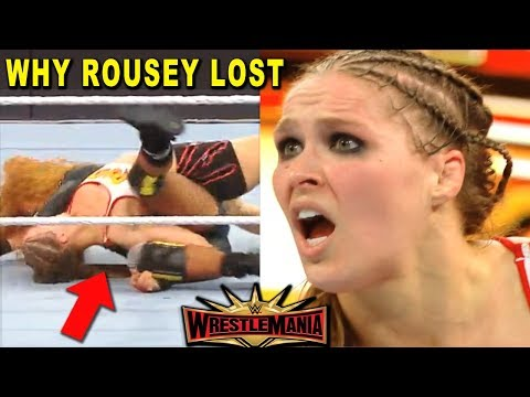 Real Reasons Why Ronda Rousey Lost at WrestleMania 35 After Botched Pinfall