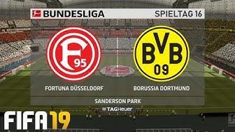 ⚽ FIFA 19 Bundesliga Fortuna Düsseldorf : Borussia Dortmund 🏆 Gameplay Deutsch Livestream