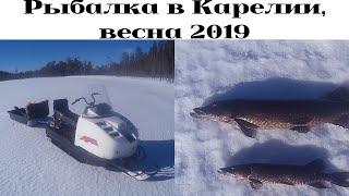 Рыбалка в Карелии/ обкатка двигателя/ весенняя рыбалка на самоловки
