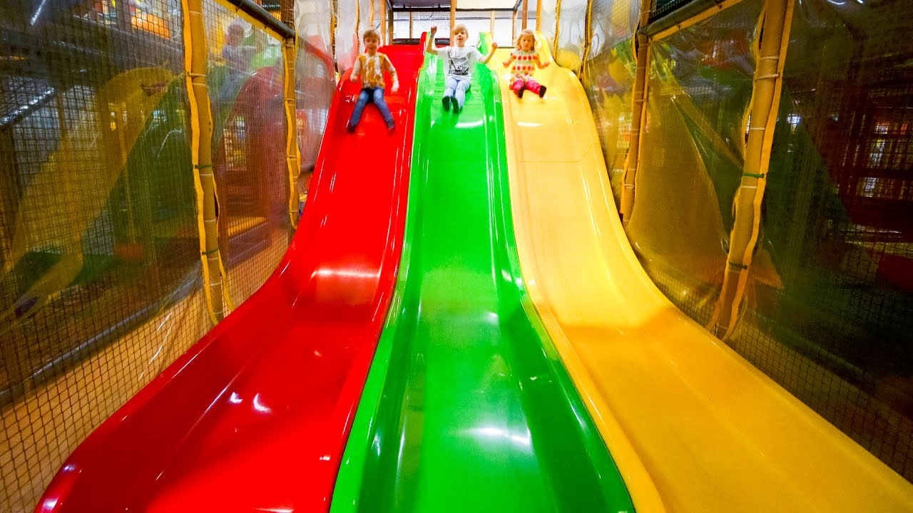 Busfabriken indoor playground fun for kids 1 6 youtube for Best indoor playground for toddlers