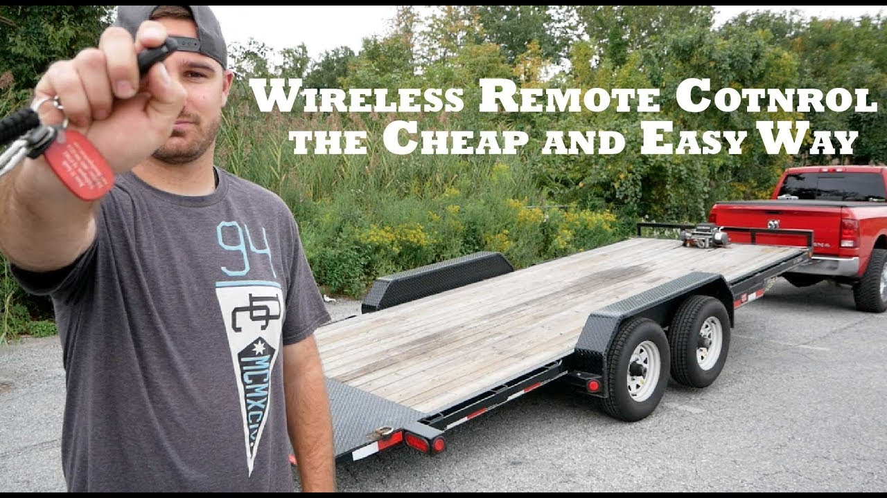 wireless trailer remote for winch and hydraulic tilt [ 1280 x 720 Pixel ]