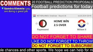 Football predictions for today 16.03.2019 Free picks