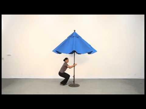 Treasure Garden Push Button Tilt Market Umbrella