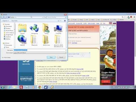 Web Apps: แปลงไฟล์ PDF to WORD (doc) ออนไลน์