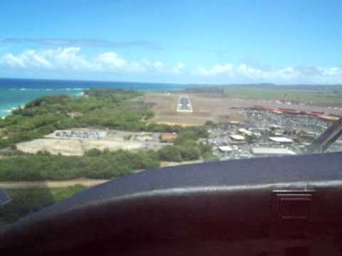 Cross wind landing in Maui