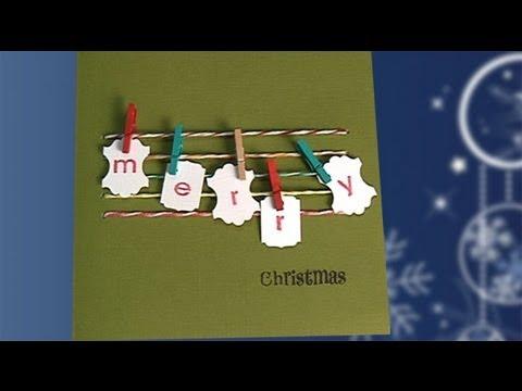 Haz tu tarjeta ideas para felicitar con los ni os youtube - Felicitaciones de navidad sencillas ...