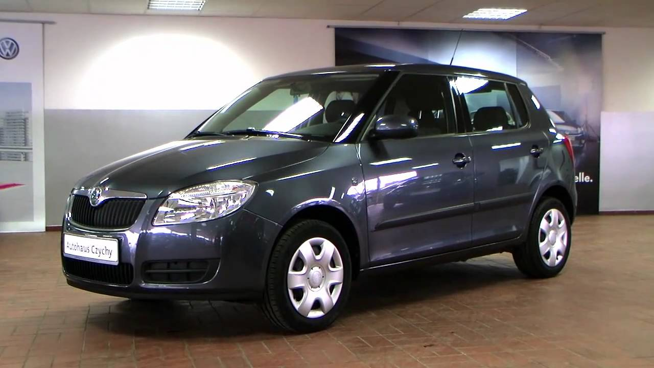 skoda fabia 1 4 ambiente 2008 anthracite grau mettalic 83151491 youtube. Black Bedroom Furniture Sets. Home Design Ideas