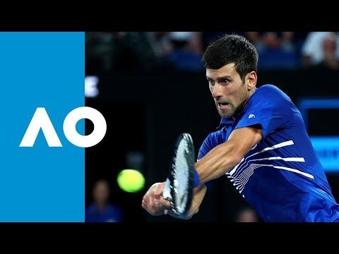 Novak Djokovic v Lucas Pouille second set highlights (SF) | Australian Open 2019