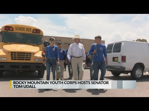 Rocky Mountain Youth Corps shows off latest project to Sen. Tom Udall